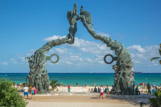 Playa del Carmen beachfront stock photo
