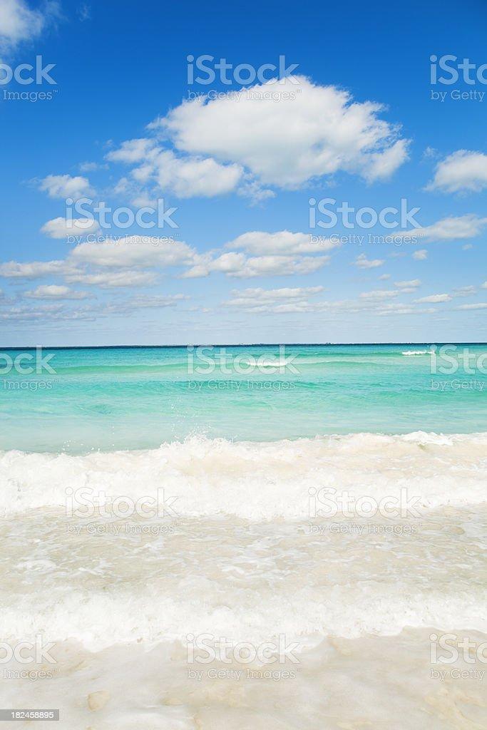 Playa del Carmen mar Caribe, Vermont foto de stock libre de derechos