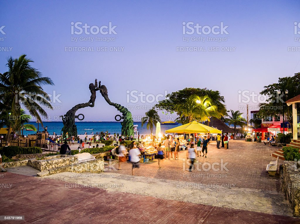 Playa del Carmen, Mexico stock photo