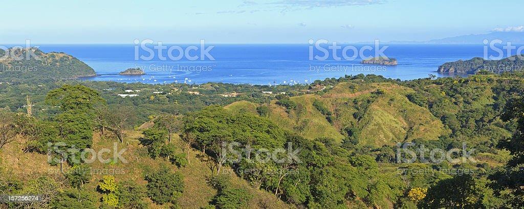 Playa del Coco and Ocotal from Cerro Ceiba stock photo