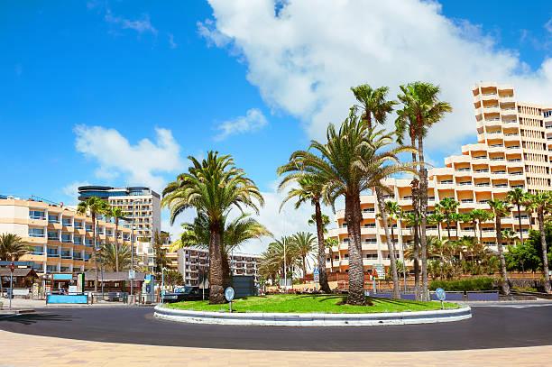 Playa del inglés ciudad. Maspalomas. Gran Canaria. - foto de stock