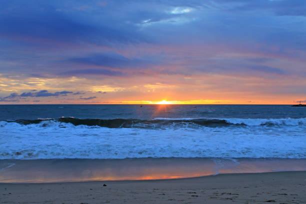 Playa Del Rey Sunset Blue stock photo