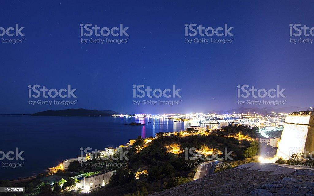 Playa D'en Bossa, Ibiza stock photo