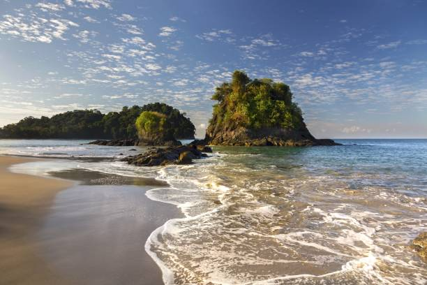 Playa Espadilla Beach Manuel Antonio National Park Costa Rica stock photo