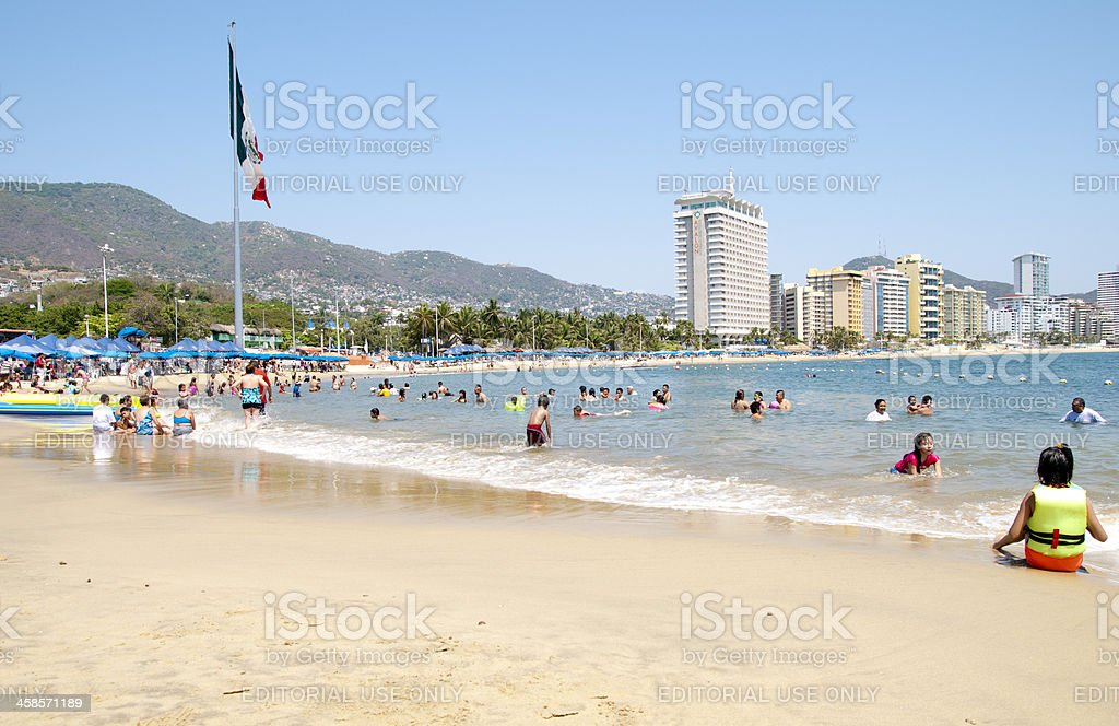 Playa Hornitos Beach stock photo