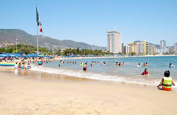 Playa Hornitos Beach stock photo