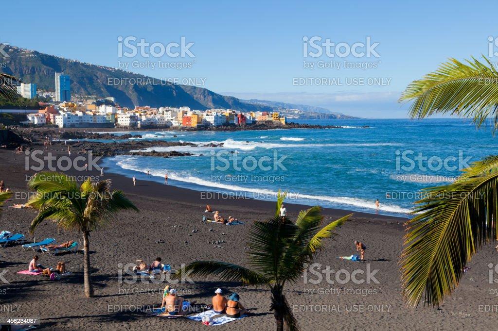 Playa Jardin in Puerto de la Cruz, Tenerife stock photo