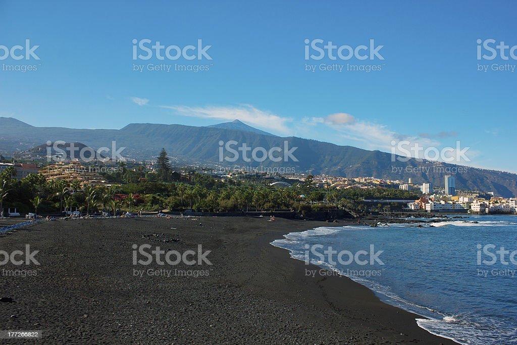 playa Jardin, Puerto Cruz, Tenerife, Spain stock photo