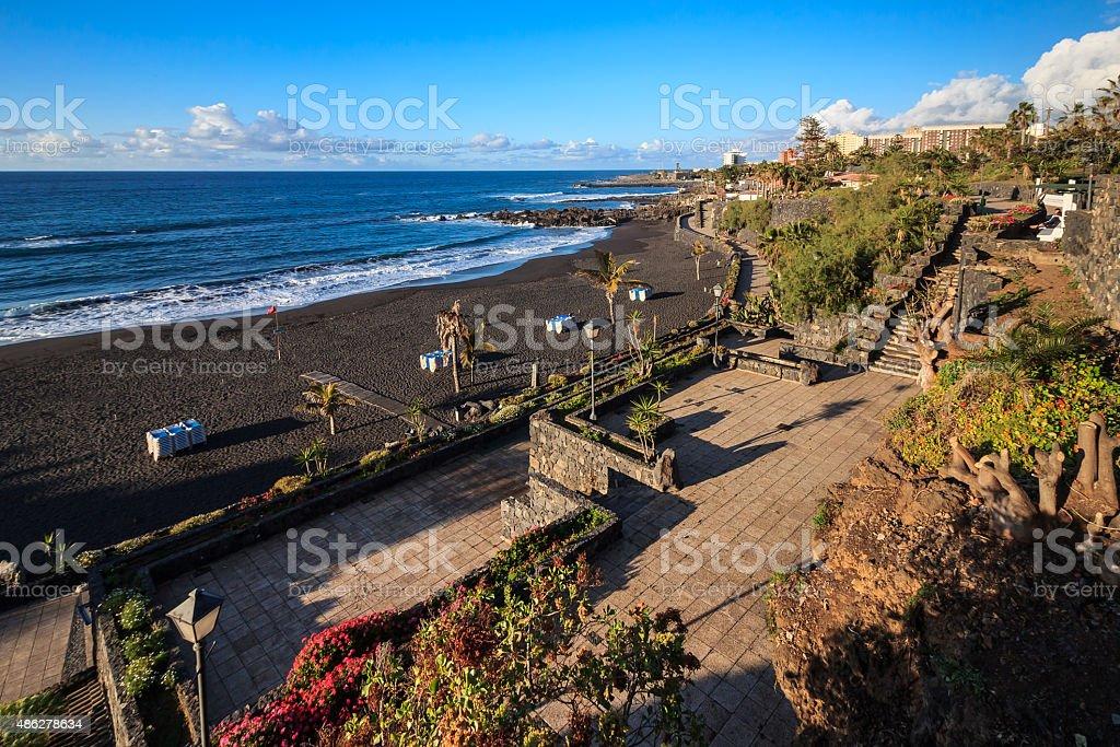 Playa Jardin, Puerto de la Cruz. stock photo
