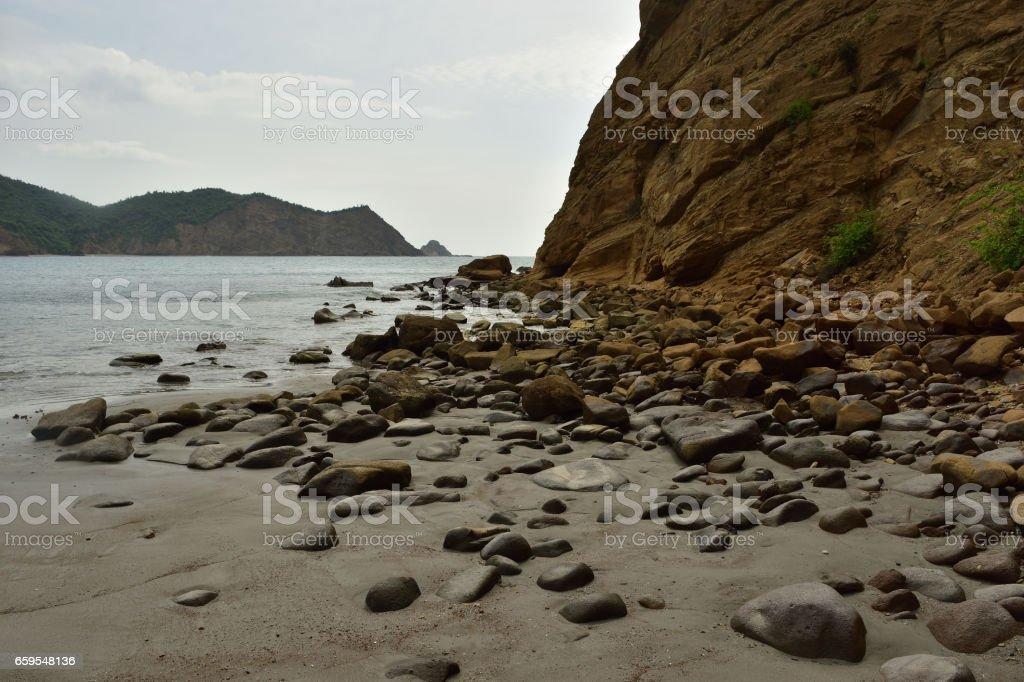 Playa los Frailes Beach in Machalilla National Park Ecuador stock photo