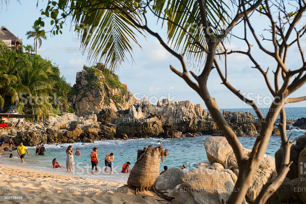 Playa Manzanillo, Oaxaca State, Mexico stock photo