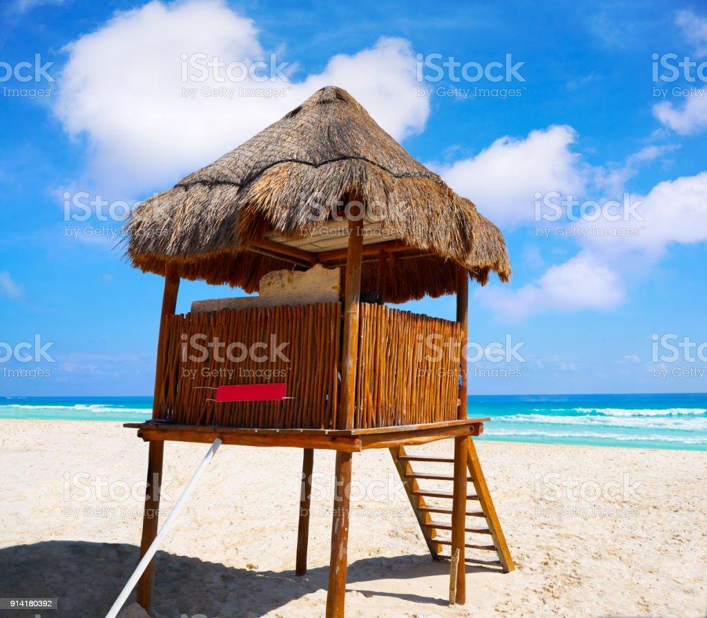 Playa Marlin in Cancun Beach in Mexico stock photo