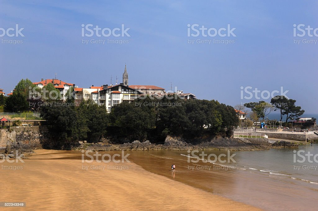 Playa Mundaka, Pais Vasco stock photo