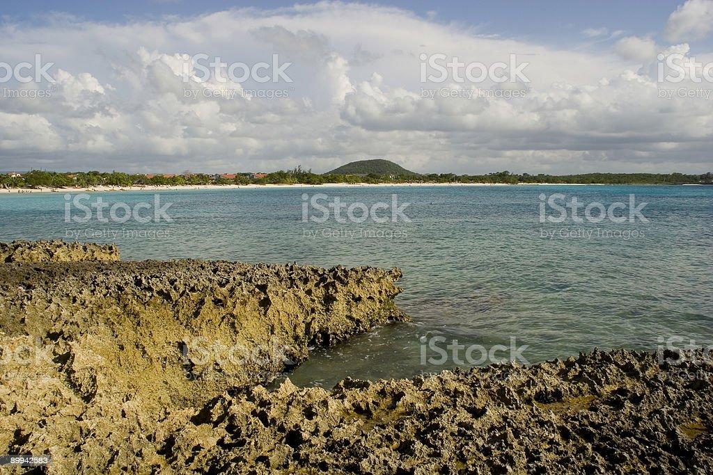 Playa Pesquero - Cuba, Barrier Reef Scenic royalty-free stock photo