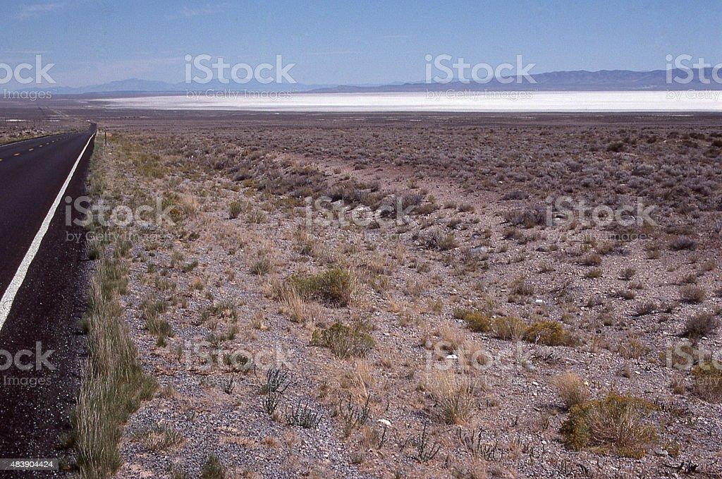 Playa salt flats Great Basin Confusion Range Millard County Utah stock photo