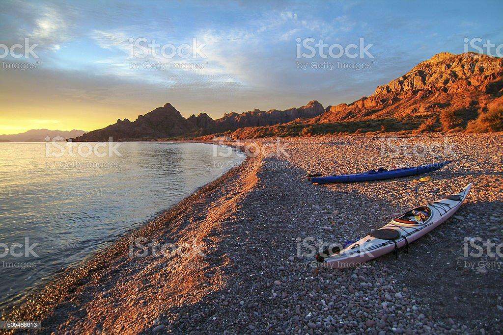 Playa Triunfo Morning stock photo