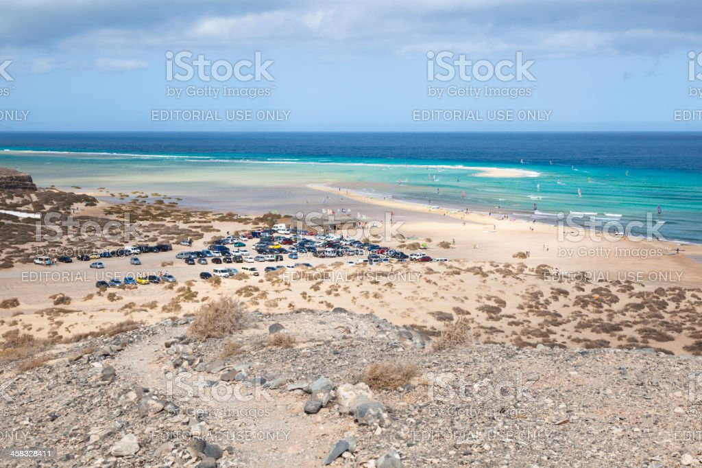 Playas De Sotavento, Fuerteventura royalty-free stock photo