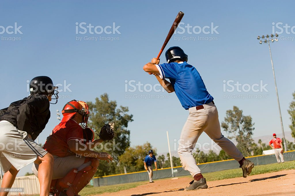 Player at Bat stock photo