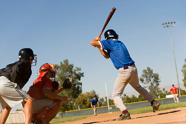 Player at Bat stock photo
