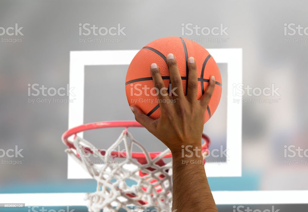 player in action stock photo