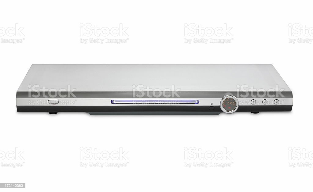 DVD player, isolated on white background royalty-free stock photo