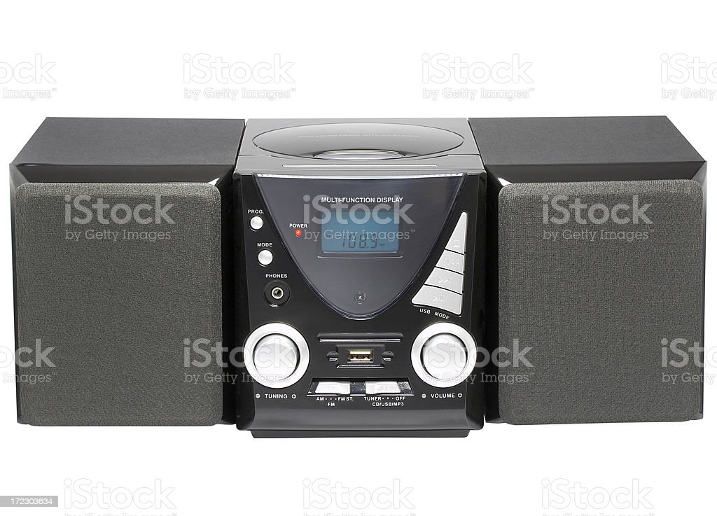 CD MP3 player (clipping path), isolated on white background royalty-free stock photo