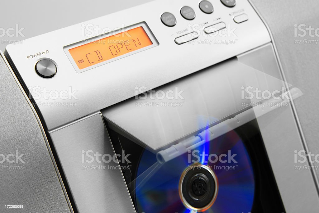CD player opening stock photo