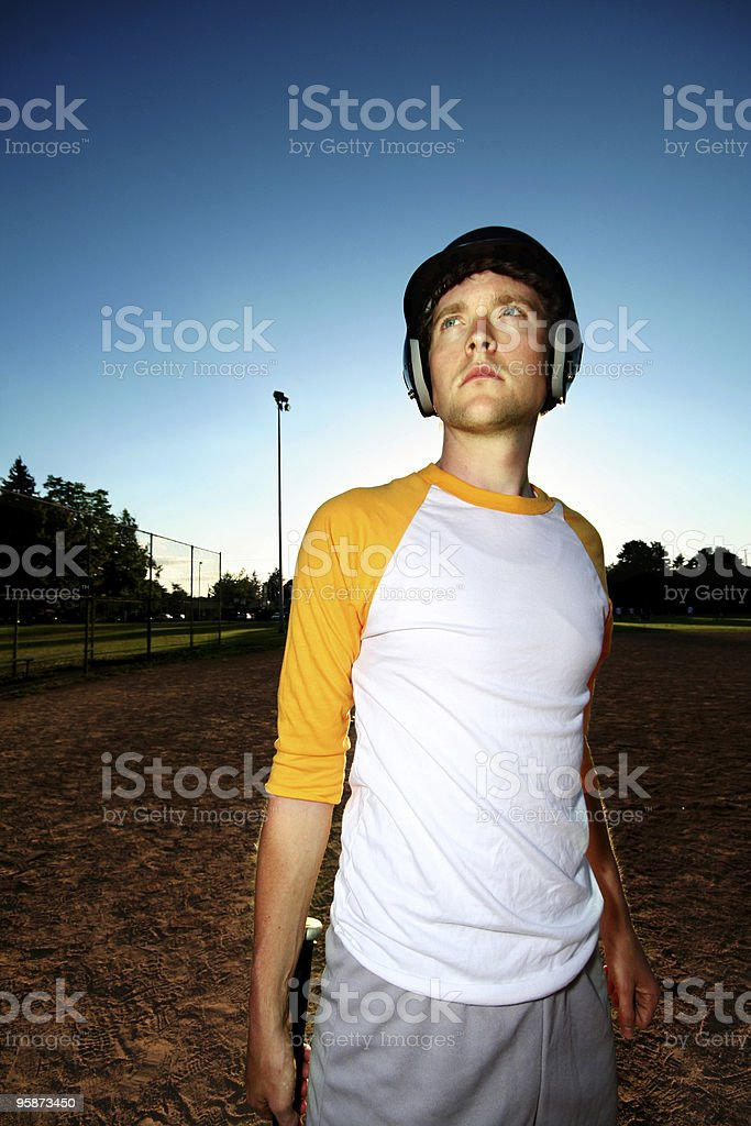 player (a baseball portrait) royalty-free stock photo