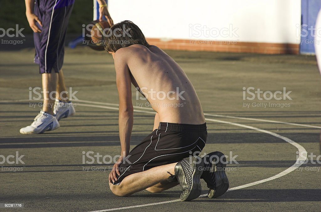 Player recovery power royalty-free stock photo