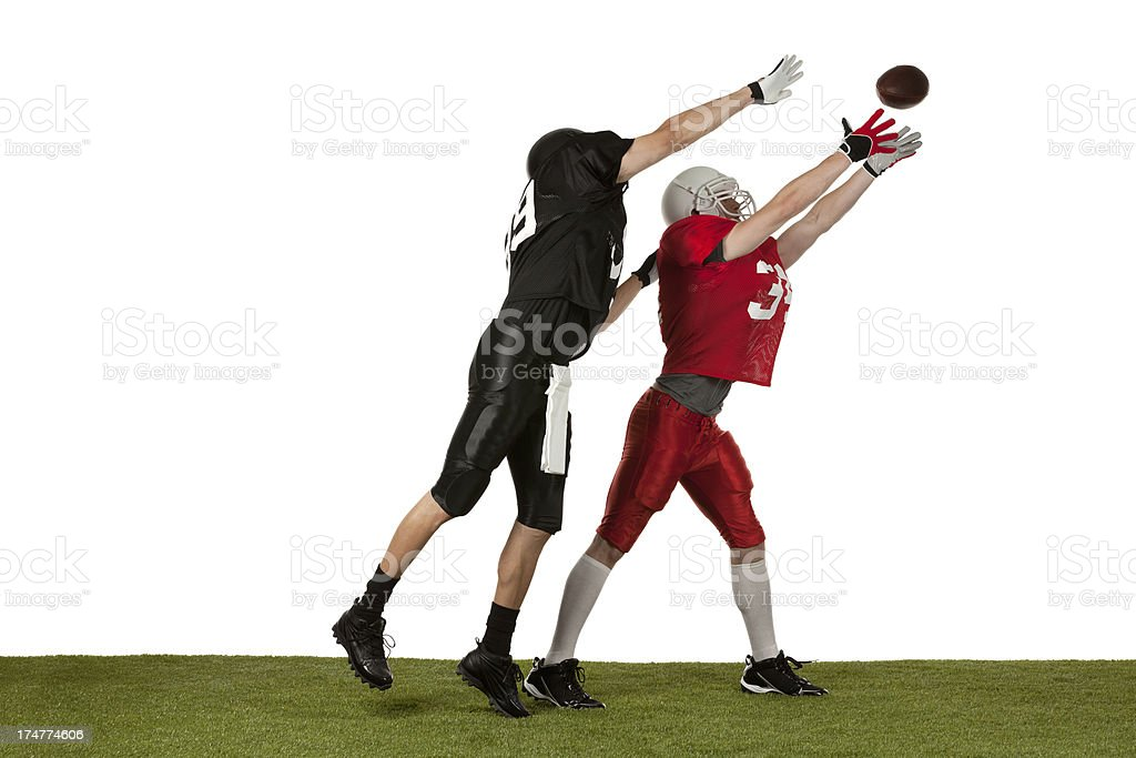 Players playing American football. royalty-free stock photo