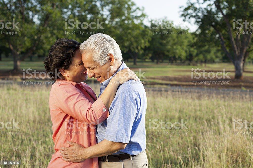 Playful and happy senior couple royalty-free stock photo