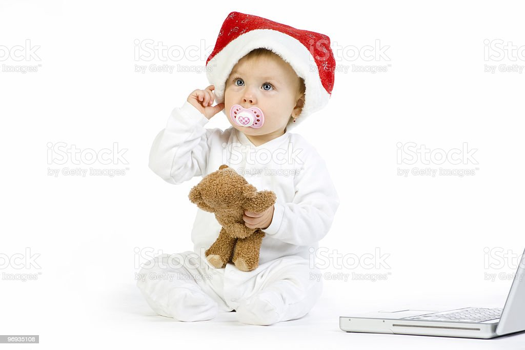 Playful Christmas Baby royalty-free stock photo