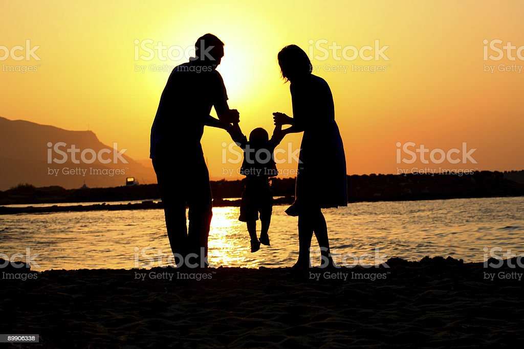 playful family of three royalty-free stock photo