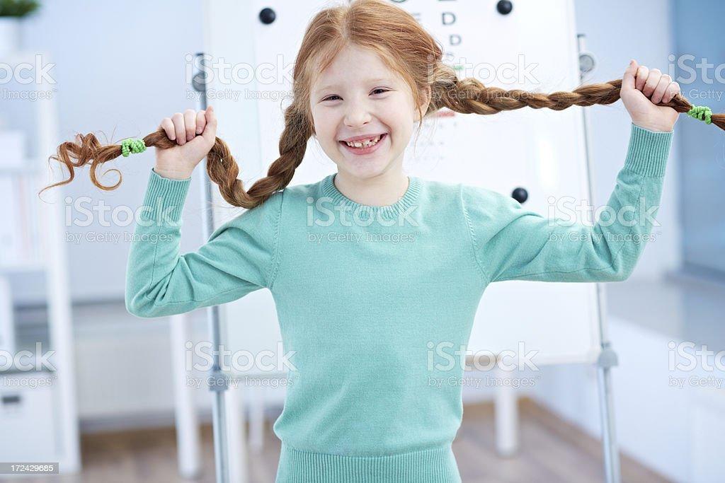 Playful girl royalty-free stock photo