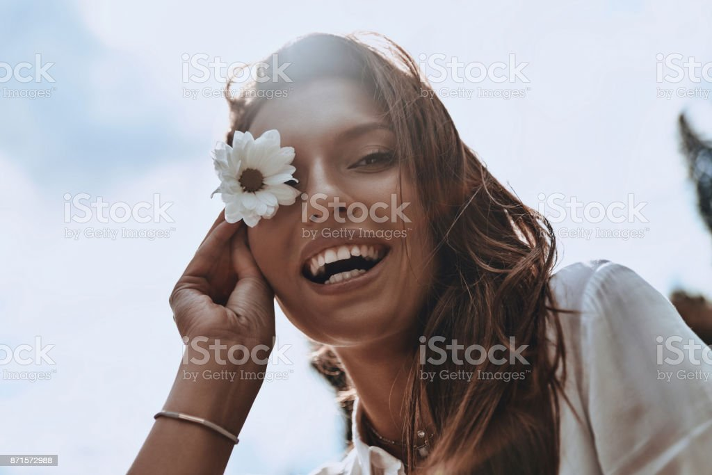 Playful girl. stock photo