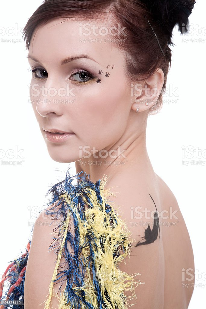 playful girl royalty-free stock photo