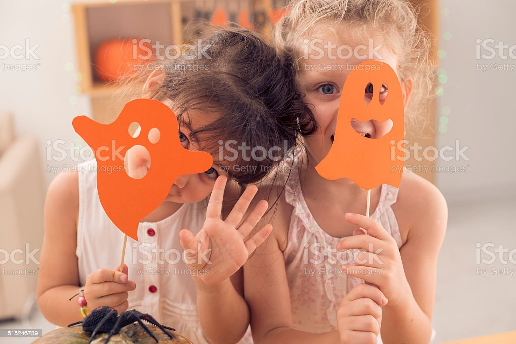 Playful girls stock photo