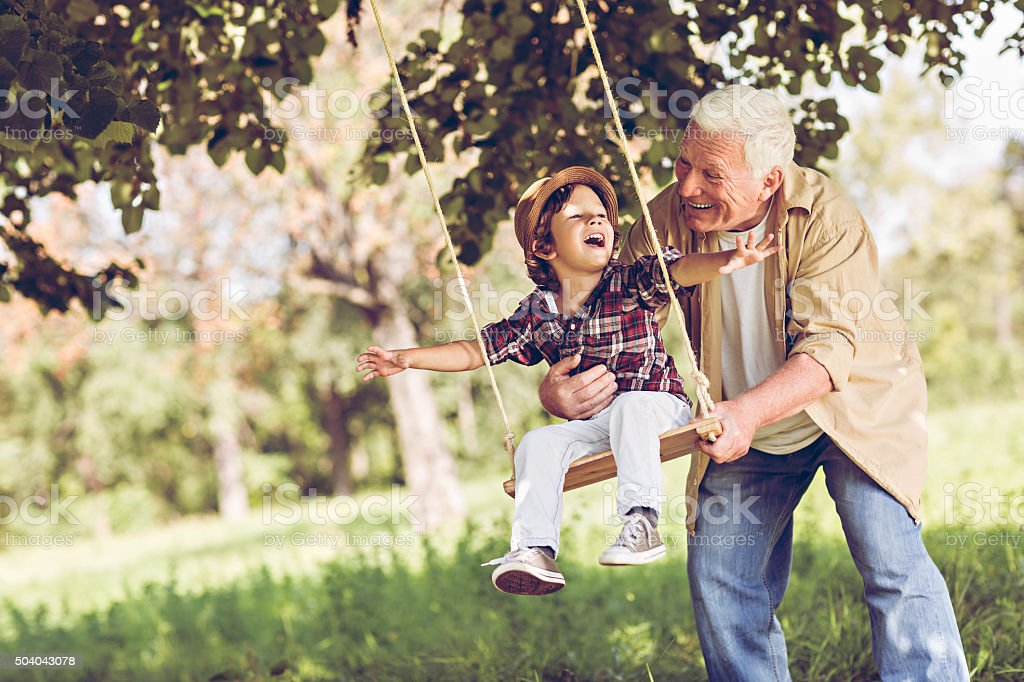 Playful grandfather​​​ foto