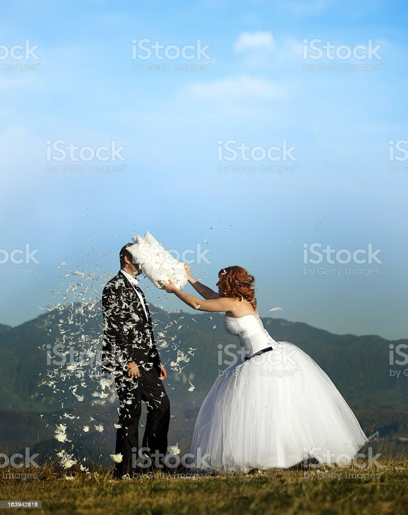 playful grooms royalty-free stock photo