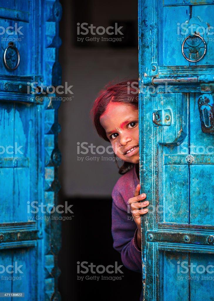 Playful indian girl stock photo