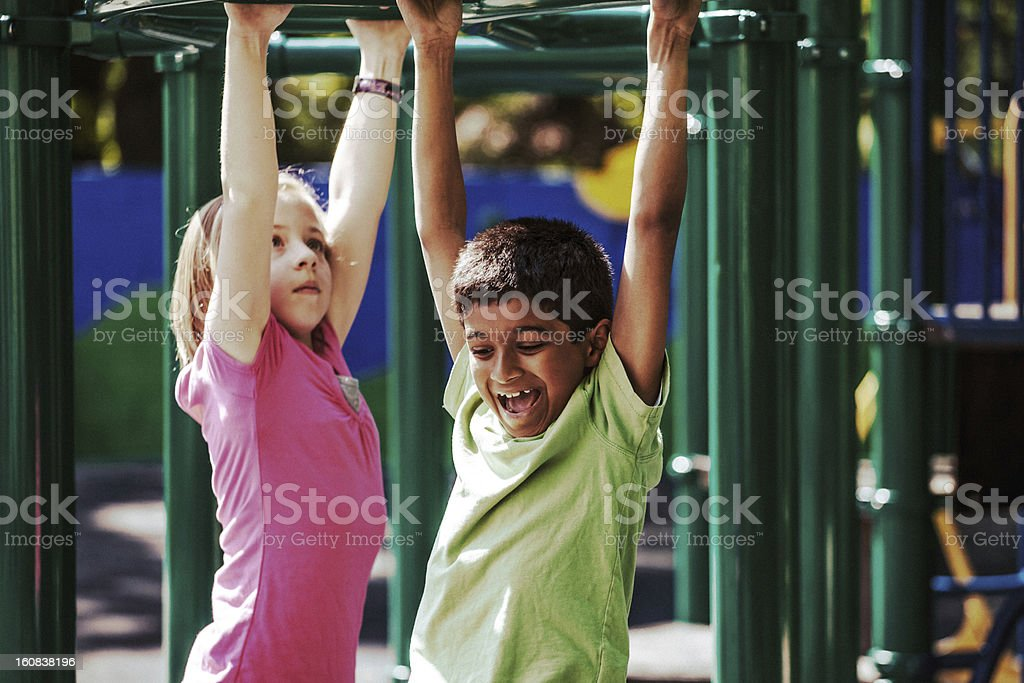Playful Kids royalty-free stock photo