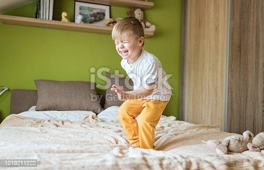 istock Playful little boy 1213211222