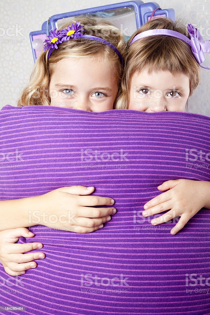 Playful little girls royalty-free stock photo