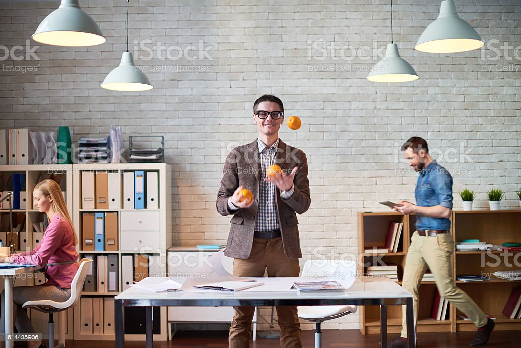 Playful manager stock photo