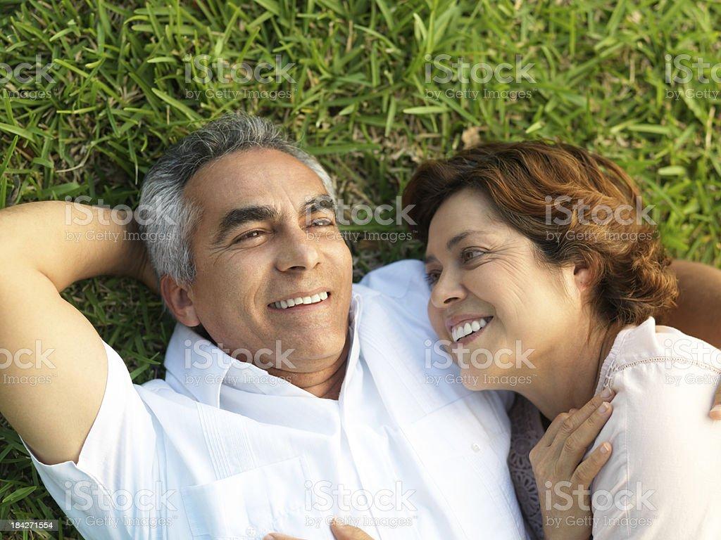Playful mature couple royalty-free stock photo