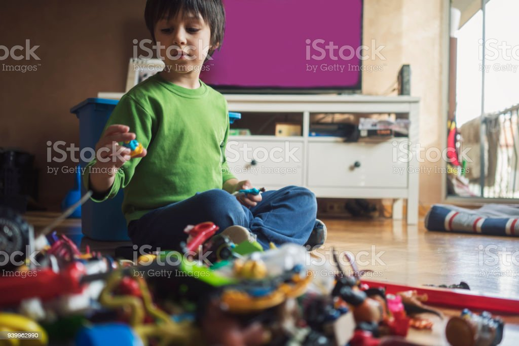 Playful preschool boy royalty-free stock photo