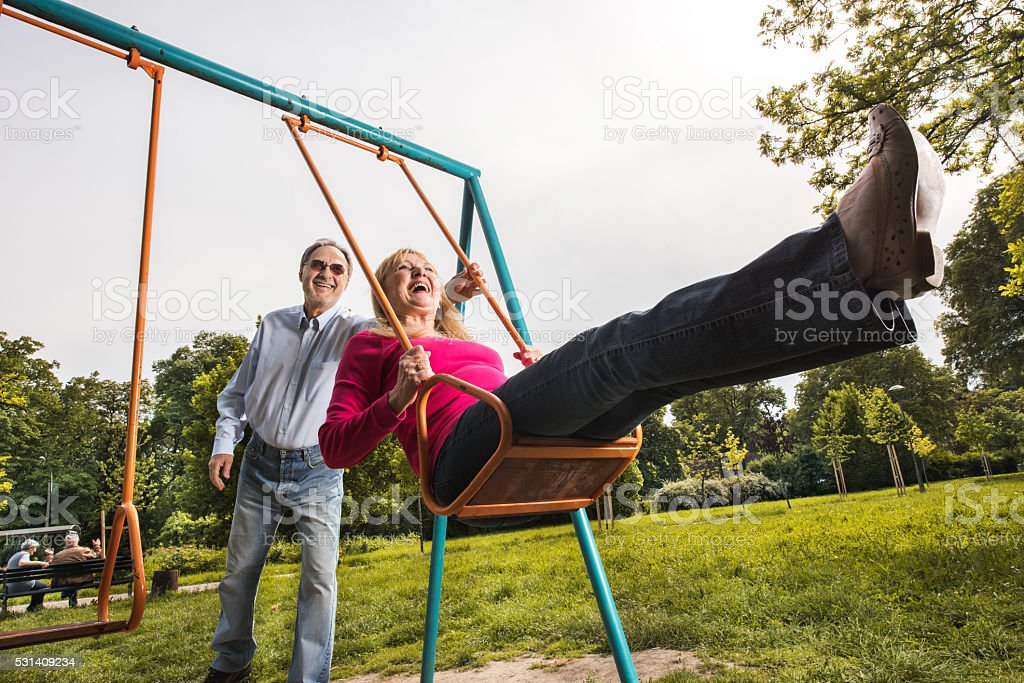 Swinger couples having fun