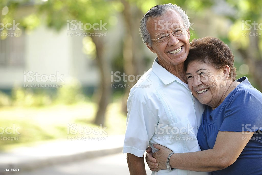 Playful seniors stock photo