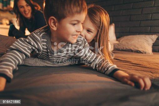 172407626 istock photo Playful siblings 916421890