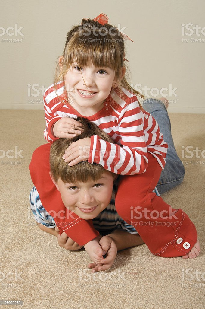 Playful Siblings royalty-free stock photo